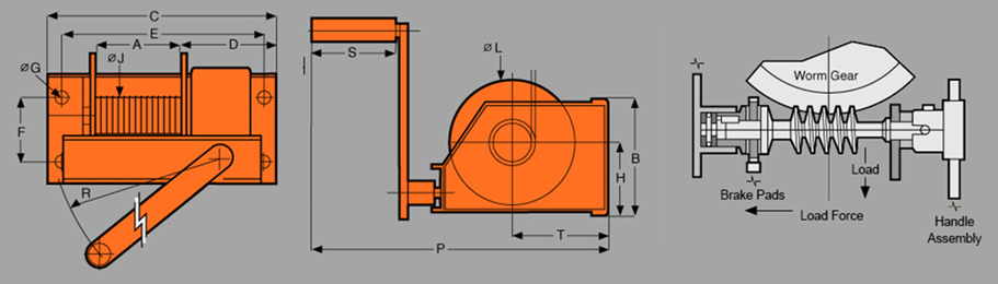 GWG GroovedDrum Winch Diagram