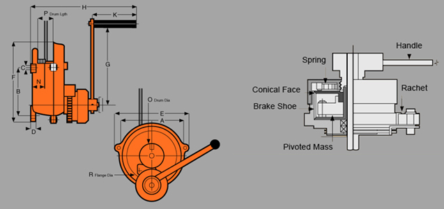 CFF ControlledFree Fall Winch Diagram