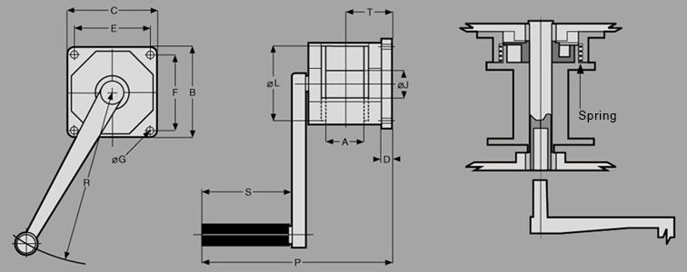 WMA AluminumWall Mount Diagram